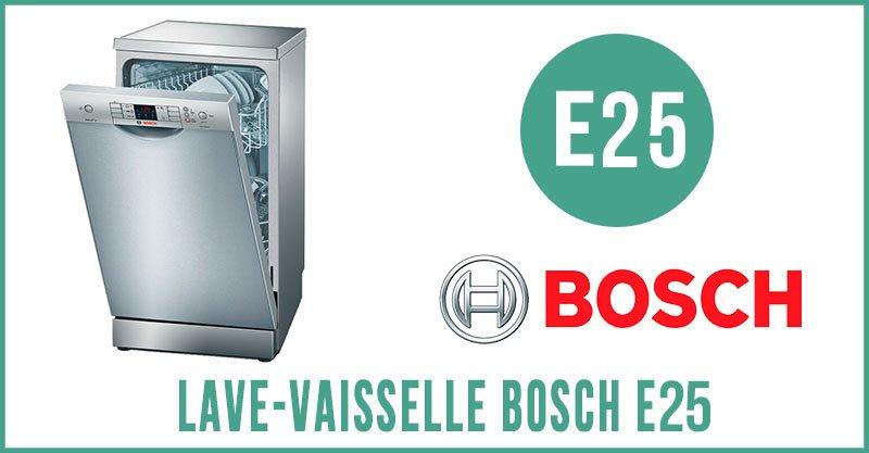 Bosch Super Silence erreur e25