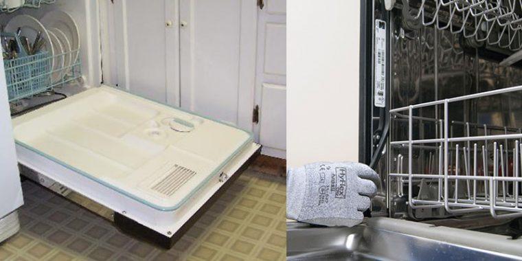 La porte du lave-vaisselle fuit