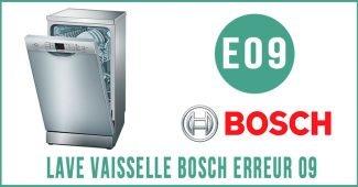 Lave vaisselle Bosch erreur 09