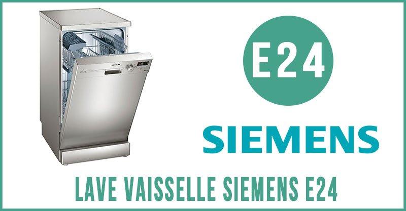 Lave vaisselle siemens e24