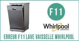 Whirlpool code d`erreur f11