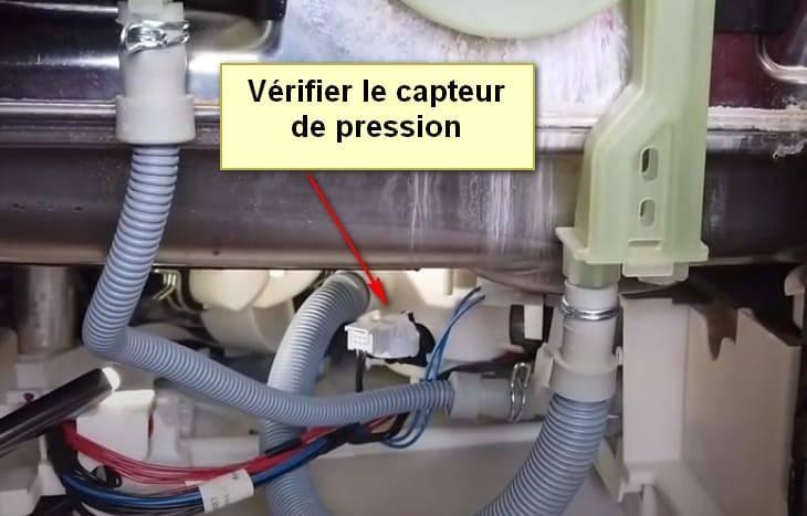 Capteur de pression I30 du code d'erreur du lave vaisselle Frigidaire