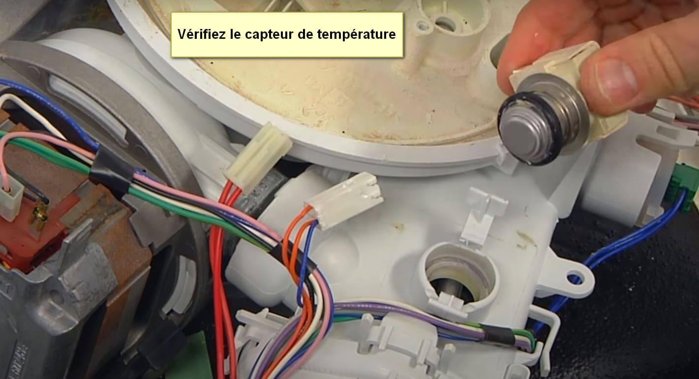 Code d'erreur du lave-vaisselle Bosch E13 vérifier le capteur de température