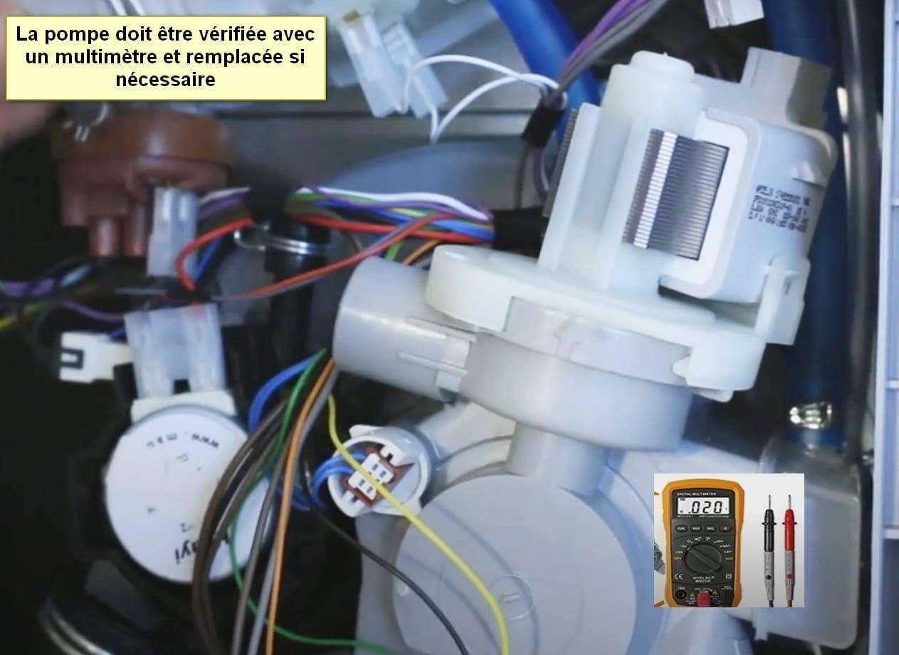 Code d'erreur du lave-vaisselle Bosch Pompe E19