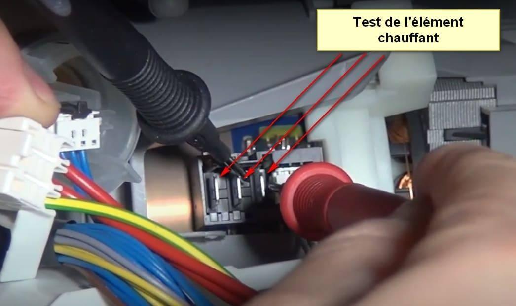 Code d'erreur du lave-vaisselle Siemens E01 élément chauffant