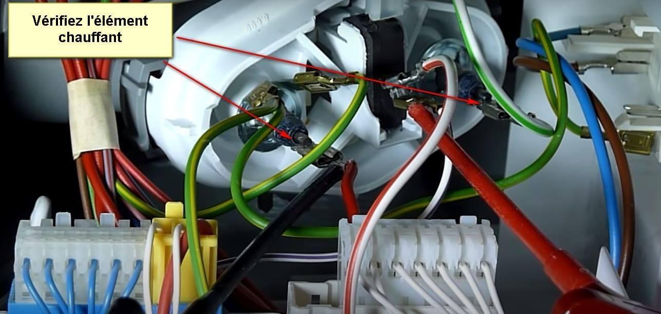 Code d'erreur du lave-vaisselle Siemens E09 élément chauffant