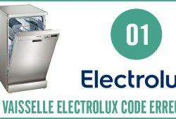 Lave vaisselle Electrolux erreur 01