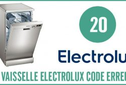 Lave vaisselle Electrolux erreur 20
