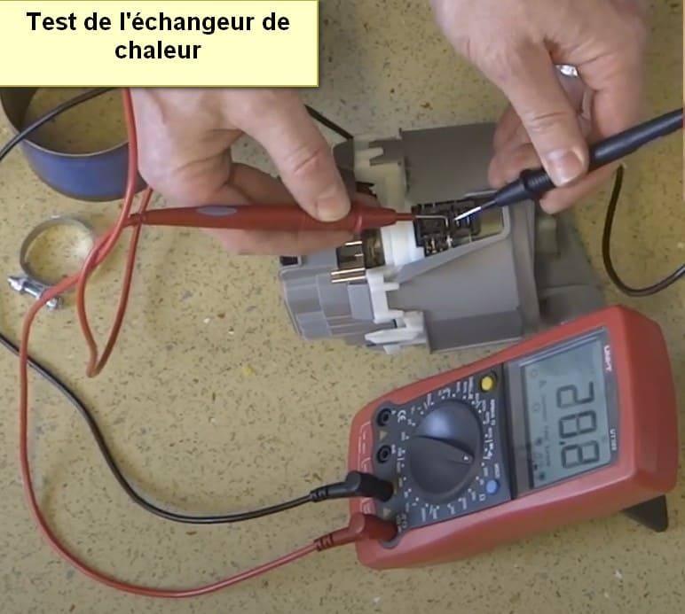 Test de l'échangeur de chaleur du code d'erreur du lave-vaisselle Siemens E19